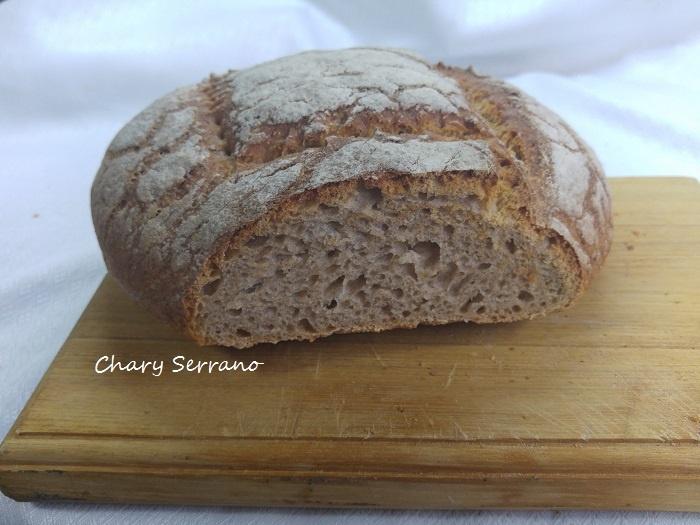 receta de pan de centeno integral en panificadora